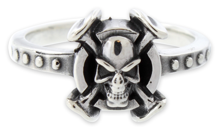 sterling silver poison skull ring for womens